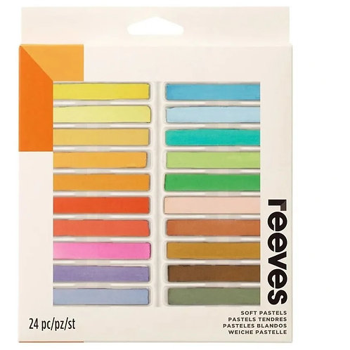 Giz Pastel Seco Reeves 24 Cores