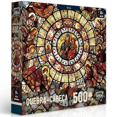 Quebra-cabeça 500 Peças Arte Sacra - Vitral | Game Office - Toyster