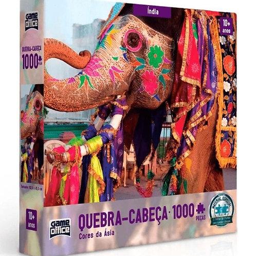 Quebra Cabeça Puzzle 1000 Peças - Cores da Ásia - Índia | Game Office - Toyster
