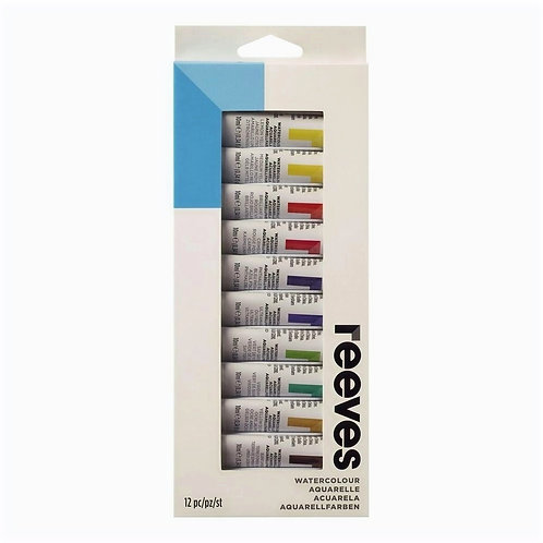 Tinta Aquarela Reeves 12 Cores de 10ml