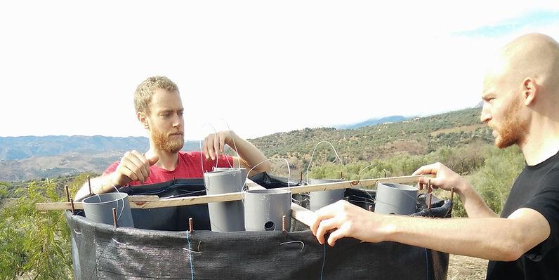 Création d'un bioréacteur à compost Johsnon & Su
