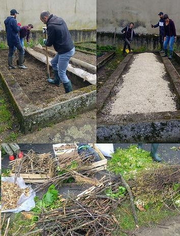 Création d'une butte de permaculture en sol vivant à la Ferme de la Croix-Rousse