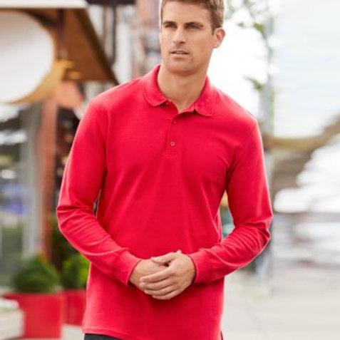 GD44 Gildan Long Sleeve Premium Cotton® Double Piqué Polo Shirt