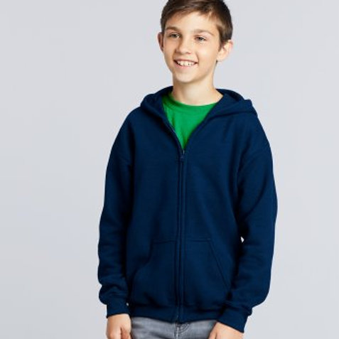 GD58BGildan Kids Heavy Blend™ Zip Hooded Sweatshirt