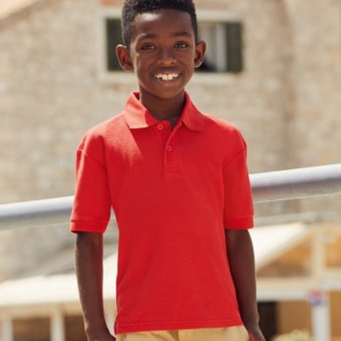 SS11B Kids Poly Cotton Pique Polo Shirt
