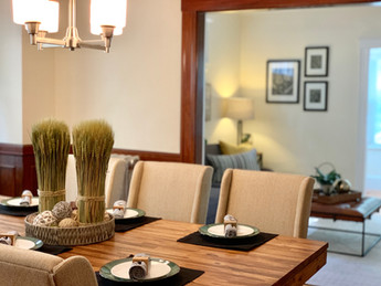 Fall dining room decorating staging Arlington