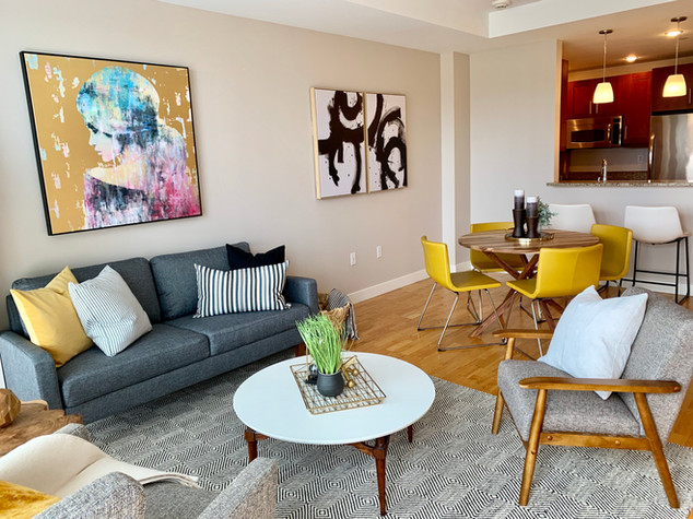 Envision Redesign: mid century home staging condo Medford Boston
