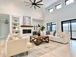 Modern sophisticated living room - Groton MA