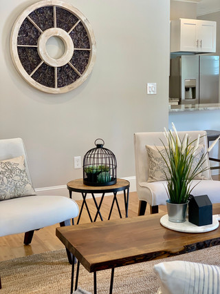Modern farmhouse style home staging Boston Envision Redesign