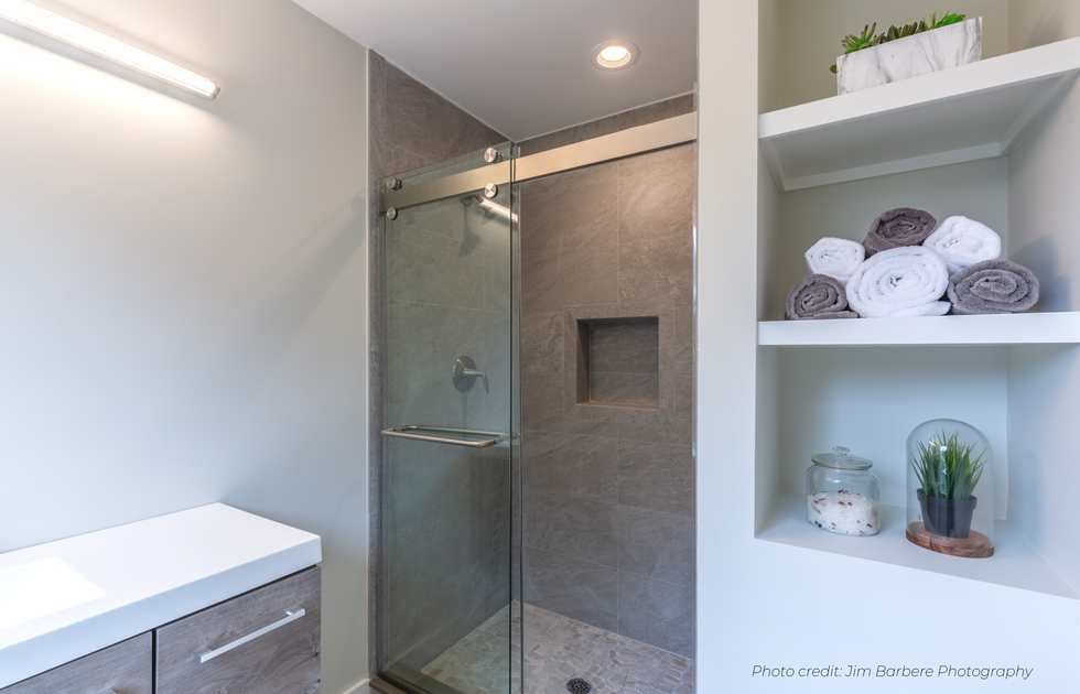 Lux master bath Envision Redesign: Home Stager