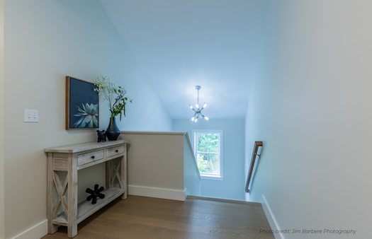 Hallway console table staged Haverhill
