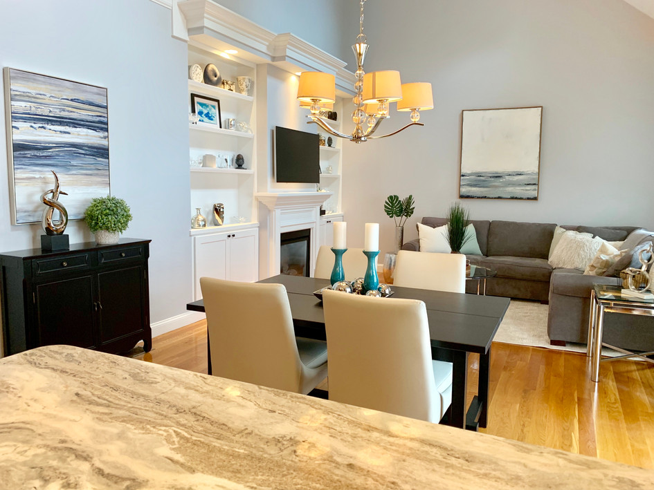 Melrose Dining Living home stager
