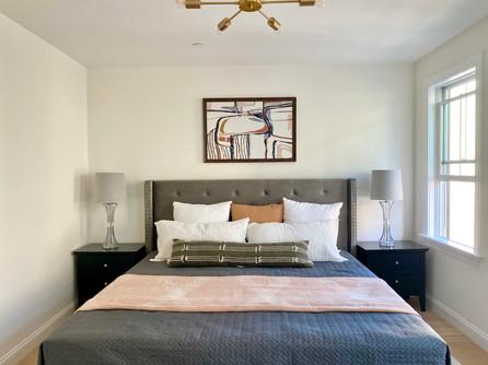 Modern master bedroom East Boston