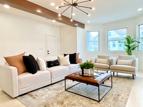 Luxury new construction living room Some
