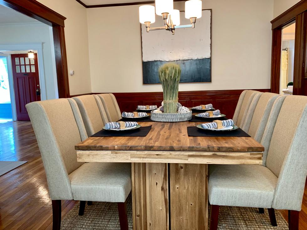 Stunning dining room staging Arlington MA