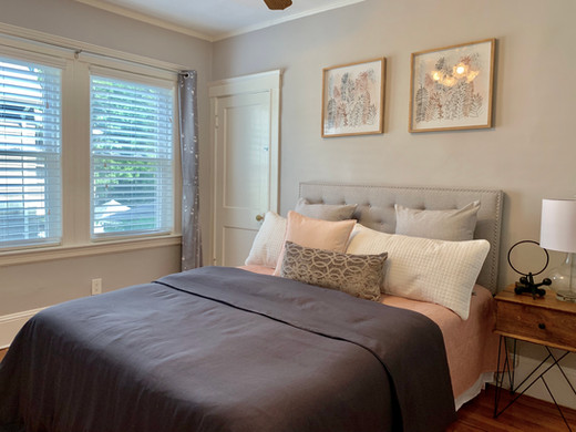 Staged guest room Envision Redesign Arlington MA