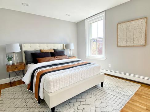 Urban bedroom South End Boston
