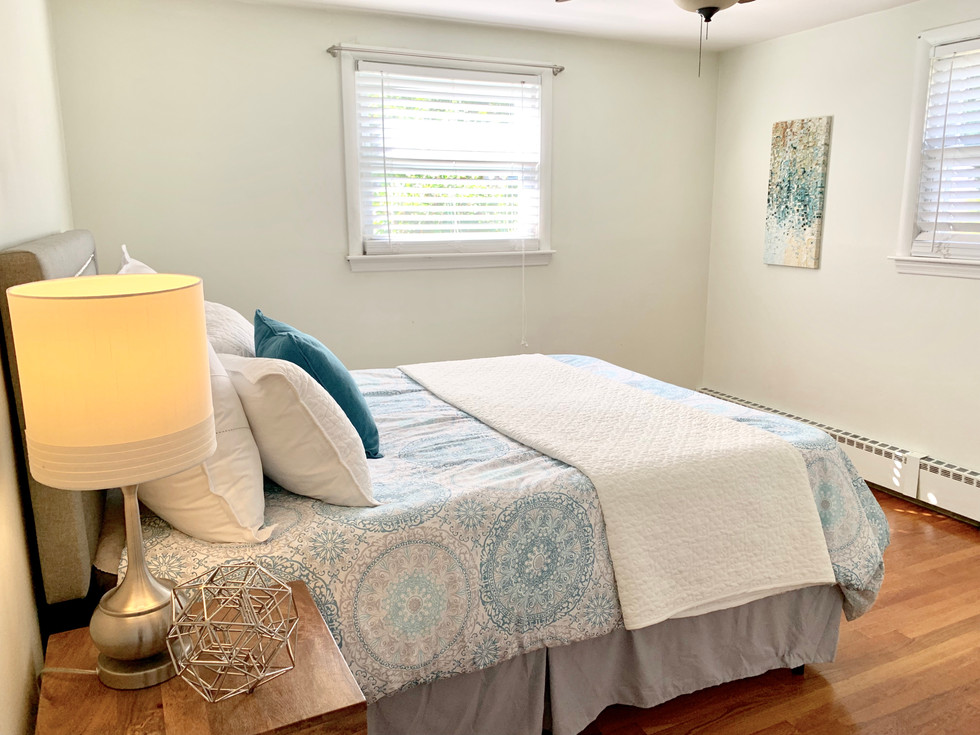 Bedroom home staging Boston