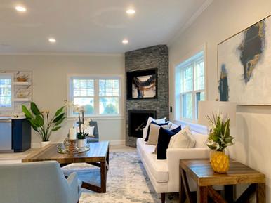 Living Room - Brookline MA Staging