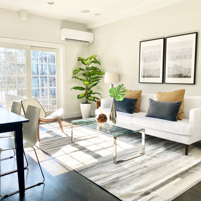 Living room in South Boston