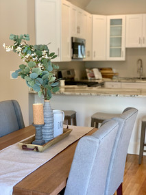 open concept dining home staging Wakefield