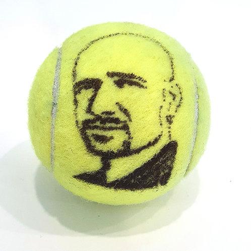 Andre Agassi Tennisballselfie