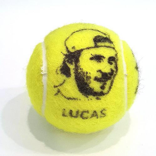 Lucas Pouille Tennisballselfie
