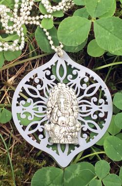 Mandala Medallion GANESHA ASH