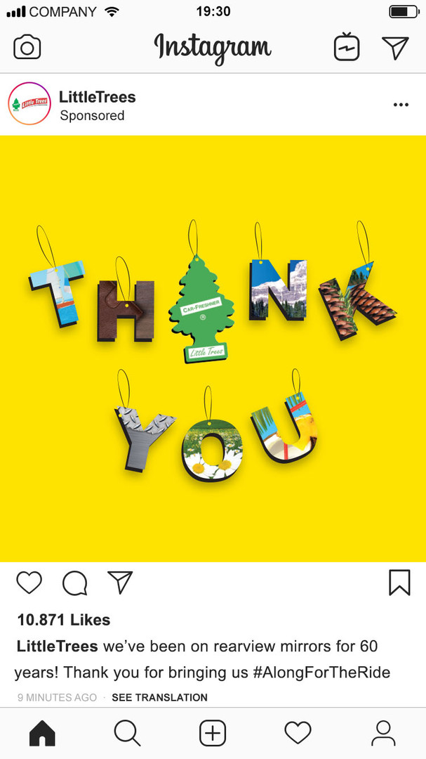 little trees instagram mockup