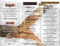 glory bagels menu back