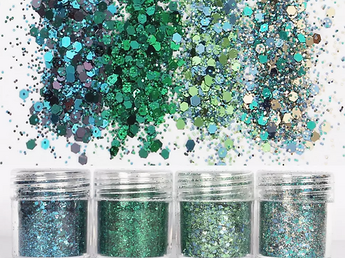 MERMAID Glitter pots