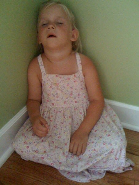 The result right before supper of Charis not getting her nap today...