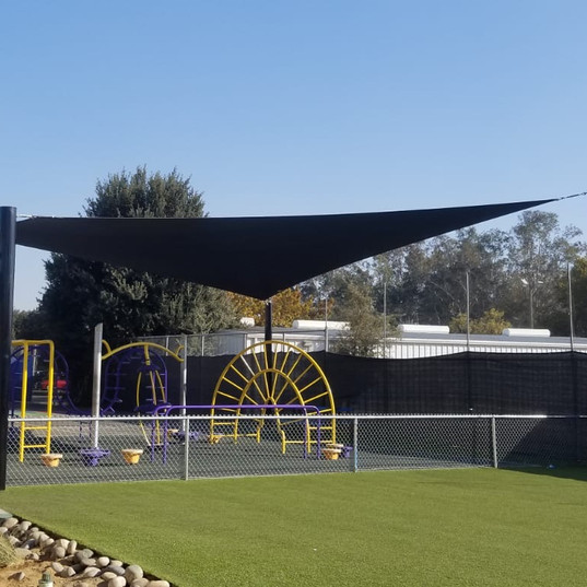 Shade Structure, Playground and Artificial Turf