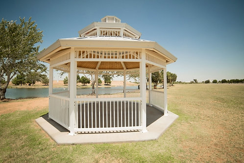 16' Double Tier Octagonal Steel Frame Shelter