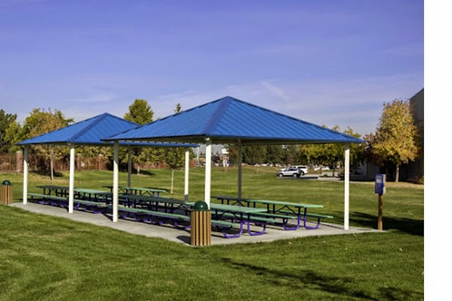 32'x32' Single Tier Square Steel Park Shelter