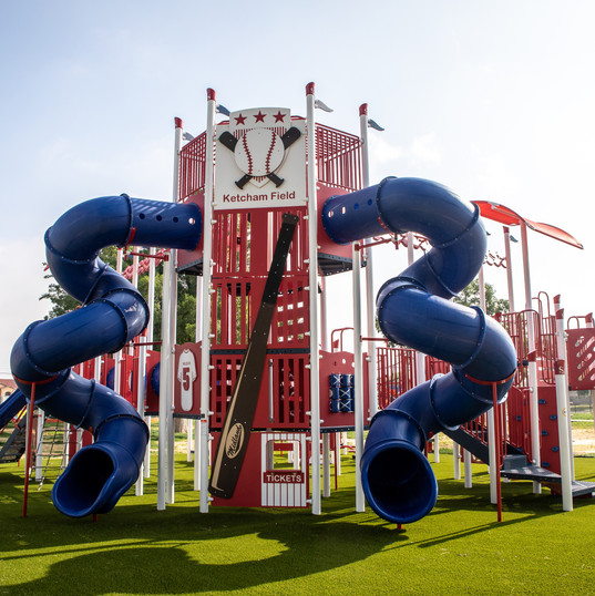Baseball Themed Play Structure