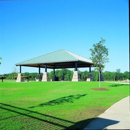 40'x40' Single Tier Square Steel Frame Shelter
