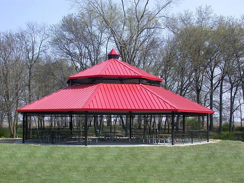 54' Double Tier Octagonal Steel Frame Shelter