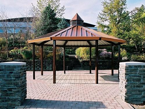 20' single Tier Octagonal Steel Frame Shelter