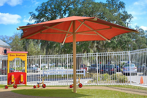 20' Hexagon Umbrella Shade Structure