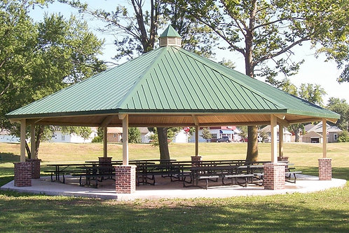 28' Single Tier Octagonal Steel Park Shelter