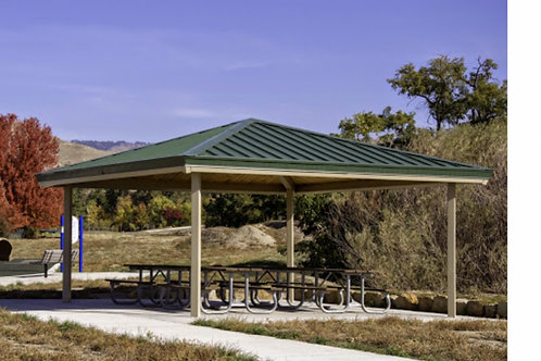 34'x34' Single Tier Square Steel Frame Shelter