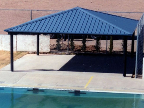 30'x30' Single Tier Square Steel Shelter