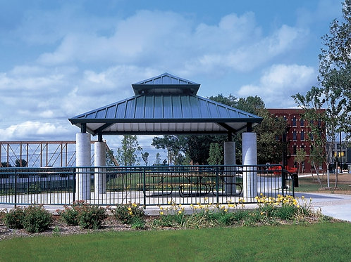 20'x20' Double Tier Square Steel Frame Shelter
