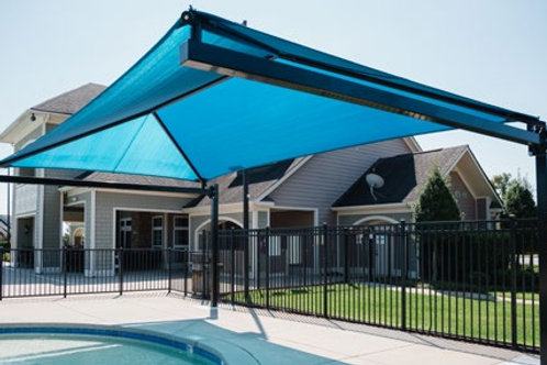 Hanging Cantilever Shade Structure