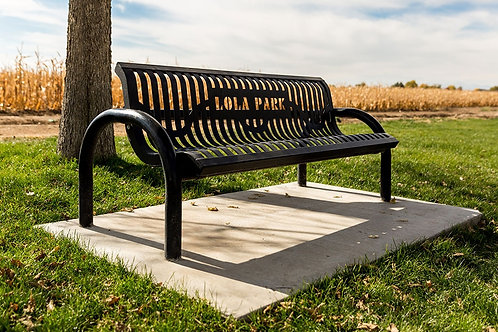 Black Summer Bench