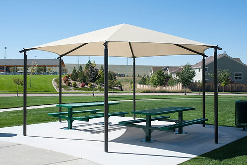 Hexagon Hip End Shade Structure