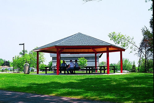 20' Single Tier Hexagonal Steel Frame Shelter