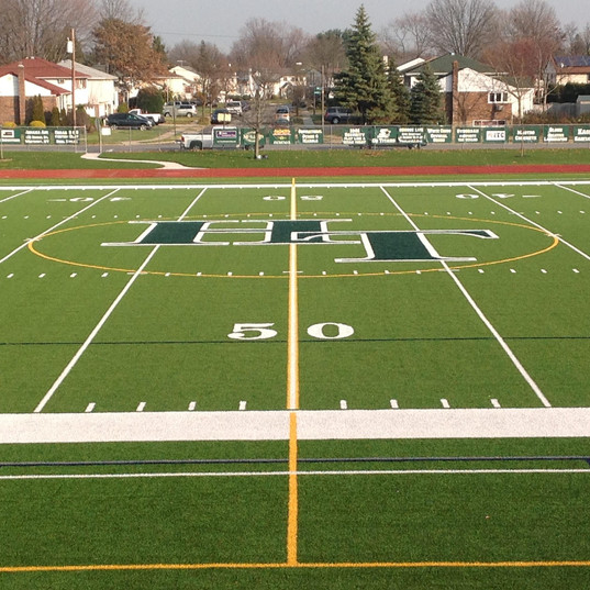 High School Football Synthetic Turf-Fiel