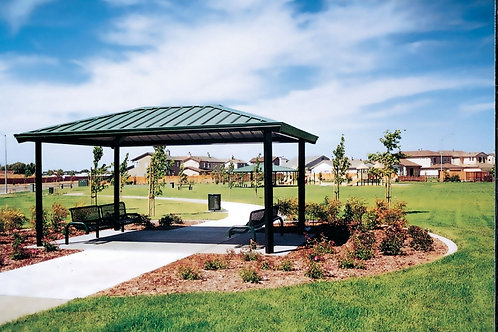 16'x16' Single Tier Square Steel Frame Shelter